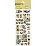 K and Company - Studio 112 Collection - Epoxy Stickers - Iconic Brocade