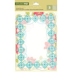 K and Company - Studio 112 Collection - Die Cut Acetate Pieces - Decorative Floral