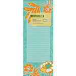 K and Company - Studio 112 Collection - 3 x 8 Notepad - Orange Floral