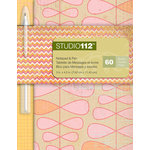 K and Company - Studio 112 Collection - Notepad with Pen - Pink Vine
