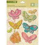 K and Company - Studio 112 Collection - 3 Dimensional Stickers - Candy Butterfly