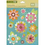 K and Company - Studio 112 Collection - 3 Dimensional Stickers - Geo Bright Floral