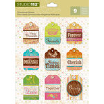 K and Company - Studio 112 Collection - 3 Dimensional Stickers - Multi Patterned Tag