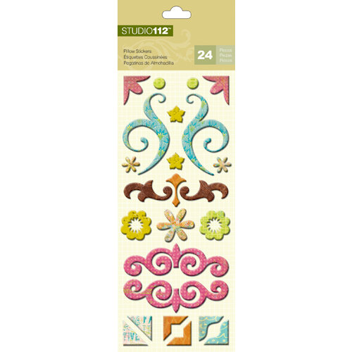 K and Company - Studio 112 Collection - Pillow Stickers - Whimsical Swirl and Frame