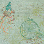 K and Company - Engraved Garden Collection - 12 x 12 Paper - Bike