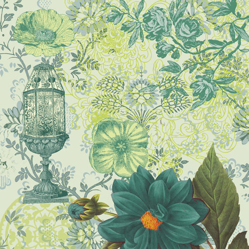 K and Company - Engraved Garden Collection - 12 x 12 Paper - Cage