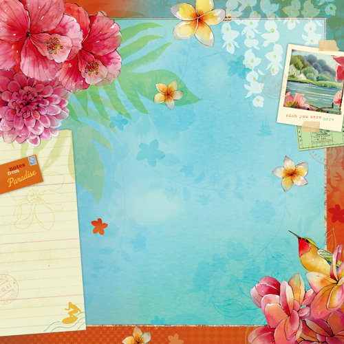 K and Company - Around the World Collection - 12 x 12 Paper - Paradise