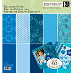K and Company - Sheer Simplicity Collection - 12 x 12 Designer Paper Pad - Blue