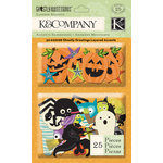 K and Company - Ghostly Greetings Collection - Halloween - Layered Accents with Glitter Accents