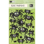 K and Company - Halloween Collection - Rub Ons with Glitter Accents - Spider