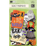 K and Company - Halloween Collection - Die Cut Cardstock Pieces with Varnish Accents - Icons