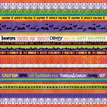 K and Company - Halloween Collection - 12 x 12 Foil Paper - Stripe