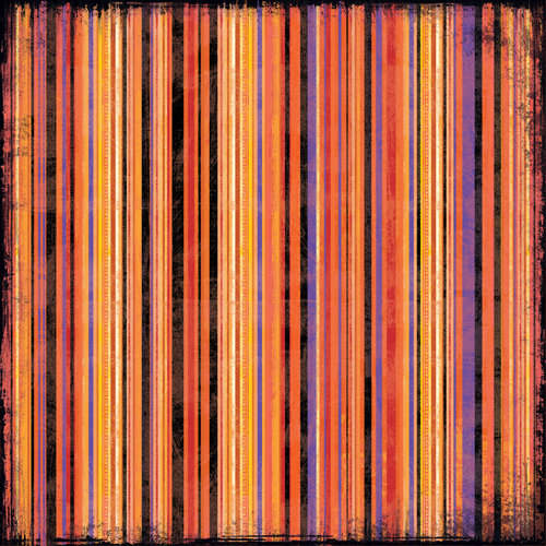 K and Company - Halloween Collection - 12 x 12 Paper - Thin Stripe