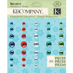 K and Company - Very Merry Collection - Christmas - Adhesive Gems