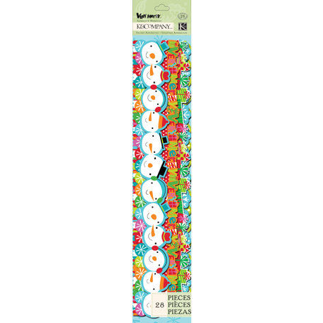 K and Company - Very Merry Collection - Christmas - Adhesive Borders - Icon