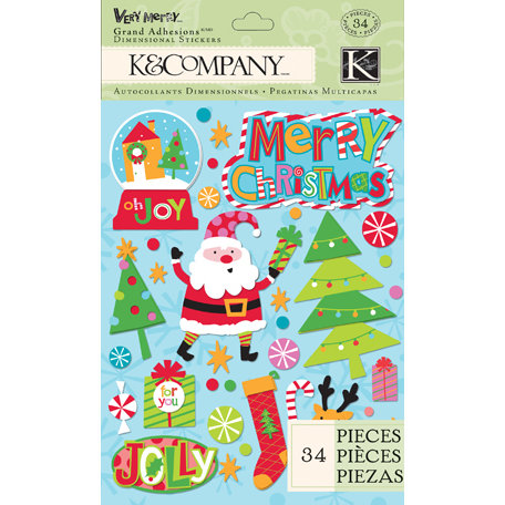 K and Company - Very Merry Collection - Christmas - Grand Adhesions - Icon