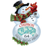 K and Company - Visions of Christmas Collection - Chipboard Box - Snowman
