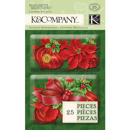K and Company - Visions of Christmas Collection - Layered Accents - Red
