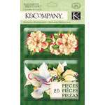 K and Company - Visions of Christmas Collection - Layered Accents - White