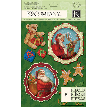 K and Company - Visions of Christmas Collection - Grand Adhesions - Santa and Toy