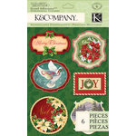 K and Company - Visions of Christmas Collection - Grand Adhesions - Word