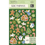 K and Company - Visions of Christmas Collection - Pillow Stickers - Cookie