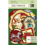 K and Company - Visions of Christmas Collection - Die Cut Cardstock Pieces - Tag