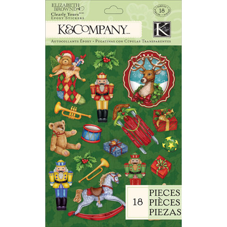 K and Company - Visions of Christmas Collection - Clearly Yours - Epoxy Stickers
