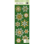 K and Company - Visions of Christmas Collection - Adhesive Chipboard with Glitter Accents - Snowflake