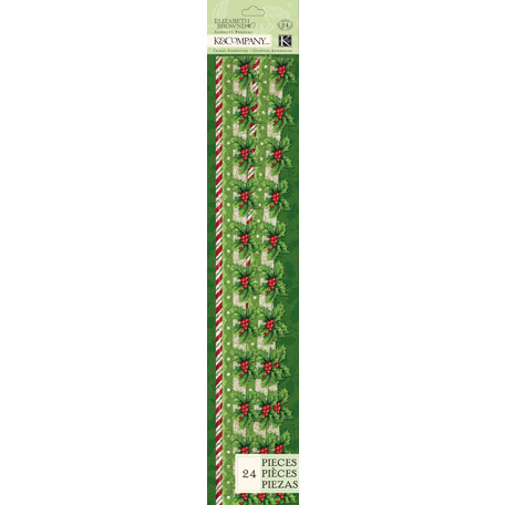 K and Company - Visions of Christmas Collection - Glitter Adhesive Borders