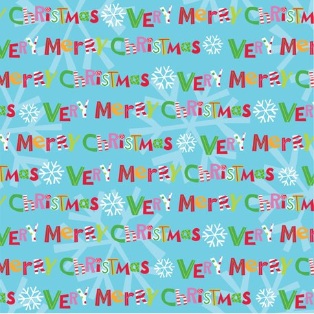 K and Company - Very Merry Collection - Christmas - 12 x 12 Paper with Foil Accents - Merry Christmas