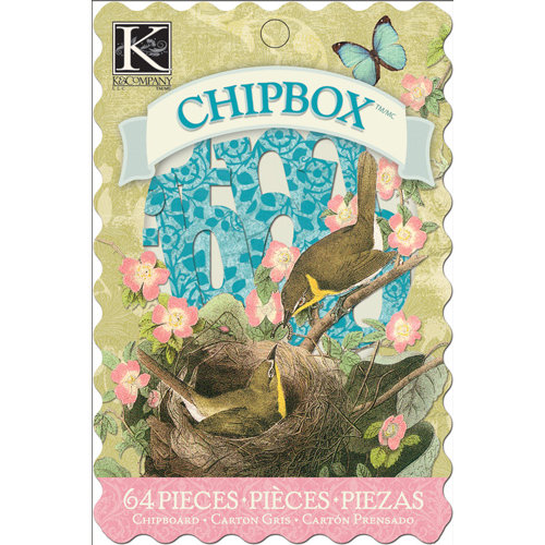 K and Company - Merryweather Collection - Chipboard Box - Alphabet