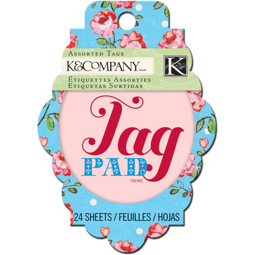 K and Company - Bloomscape Collection - Tag Pad