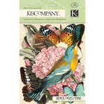 K and Company - Merryweather Collection - Die Cut Cardstock and Acetate Pieces
