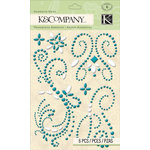 K and Company - Merryweather Collection - Adhesive Gems - Swirl