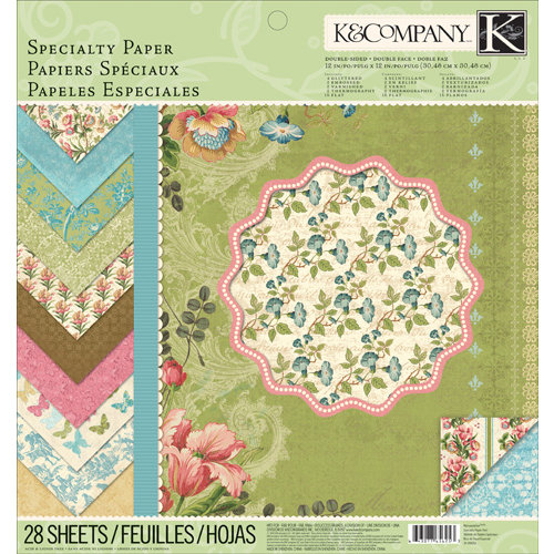 K and Company - Merryweather Collection - 12 x 12 Specialty Paper Pad