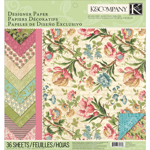 K and Company - Merryweather Collection - 12 x 12 Designer Paper Pad