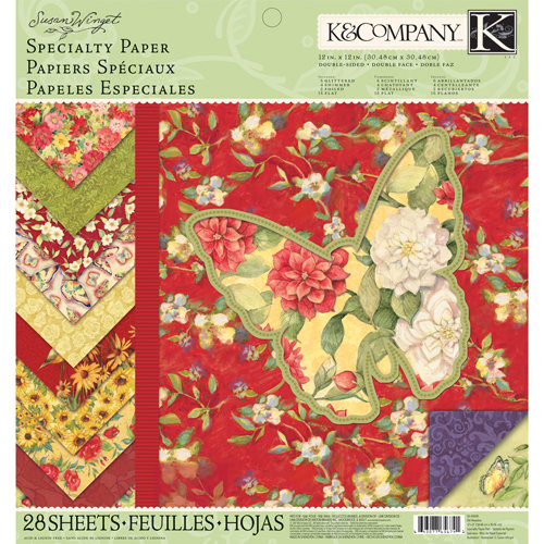 K and Company - Meadow Collection - 12 x 12 Specialty Paper Pad