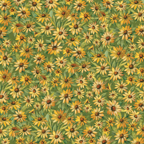 K and Company - Meadow Collection - 12 x 12 Paper - Daisy