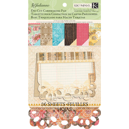 K and Company - Julianne Vintage Collection - Die Cut Card Pad