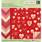 K and Company - Circus Valentine Collection - 12 x 12 Designer Paper Pad