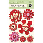 K and Company - Circus Valentine Collection - Grand Adhesions - Medallion