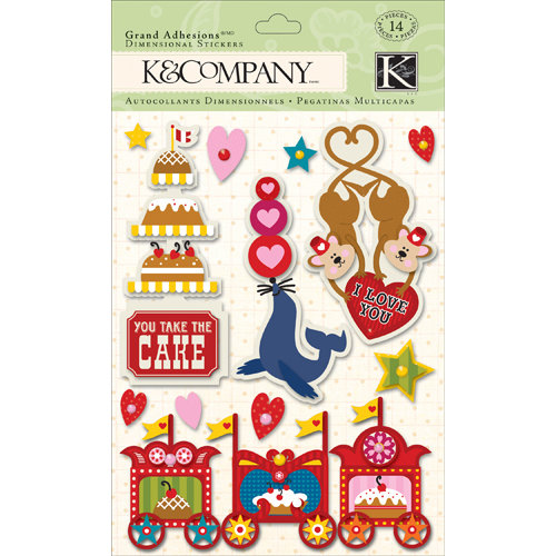 K and Company - Circus Valentine Collection - Grand Adhesions