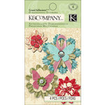 K and Company - Beyond Postmarks Collection - Grand Adhesions with Gem Accents - Medallion