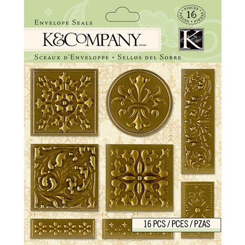 K and Company - Beyond Postmarks Collection - Foil Envelope Seals