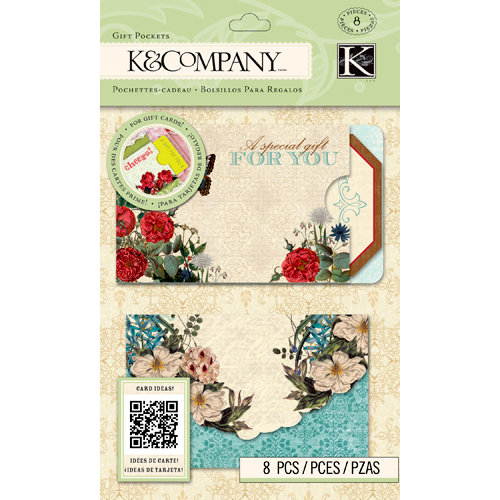 K and Company - Beyond Postmarks Collection - Gift Pockets - Florals