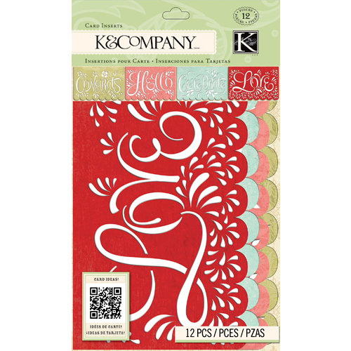 K and Company - Beyond Postmarks Collection - Die Cut Vellum Card Inserts