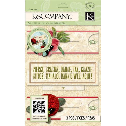 K and Company - Beyond Postmarks Collection - Botanical Sliders