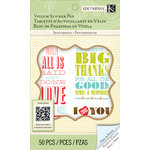 K and Company - Beyond Postmarks Collection - Vellum Sticker Pad - Letterpress Sentiments