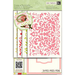 K and Company - Beyond Postmarks Collection - Die Cut Cards and Envelopes - Damask